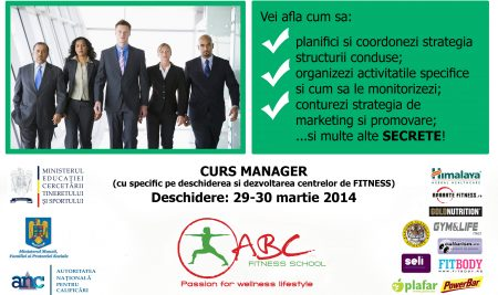 ABC FITNESS introduce cursul de MANAGER
