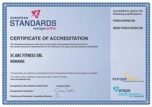 europeactive certificat de acreditare curs instructor aerobic-fitness