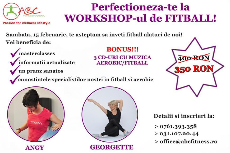 workshop fitball 15 februarie 2014