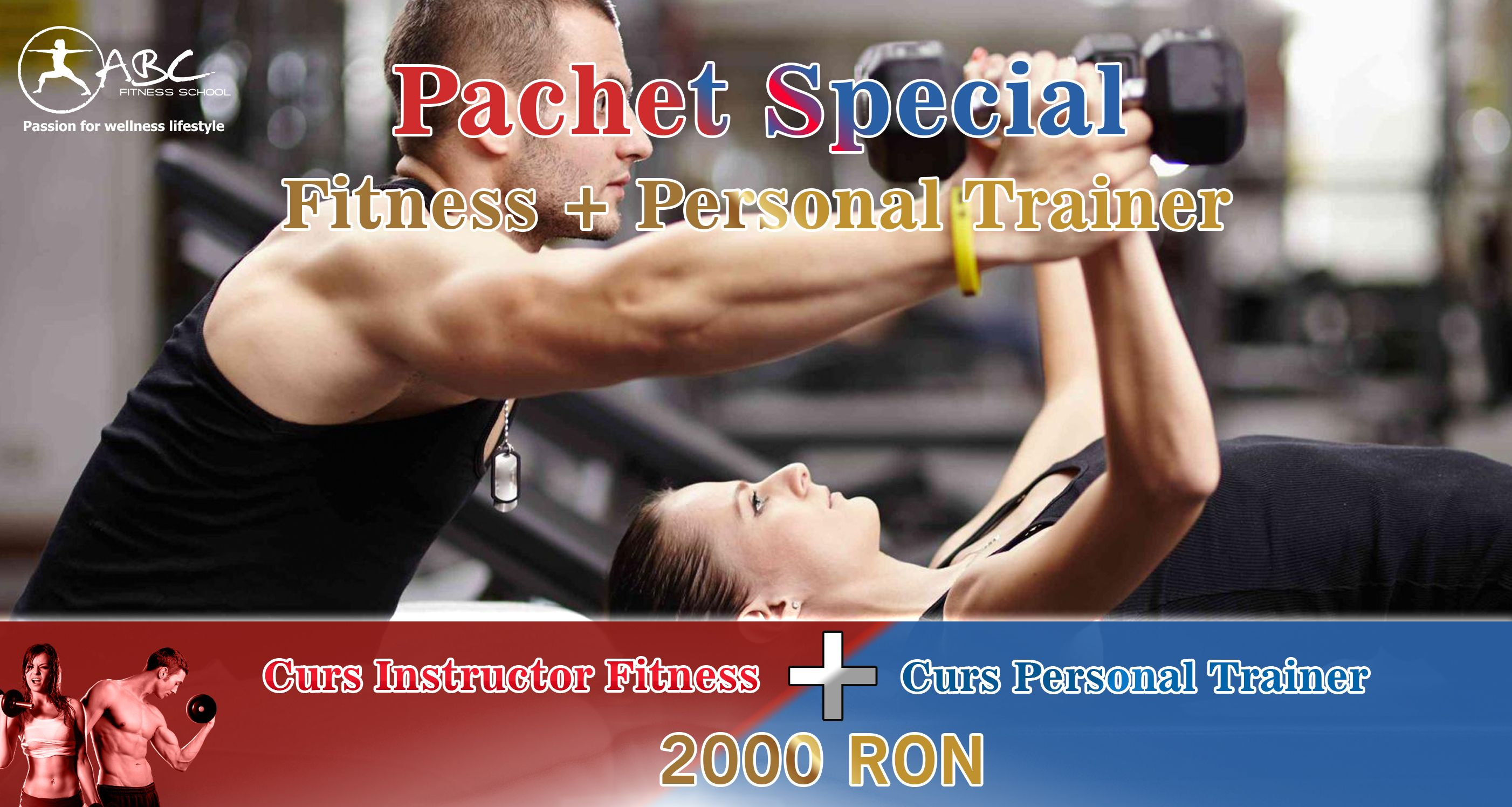 pachet curs instructor fitness si personal trainer