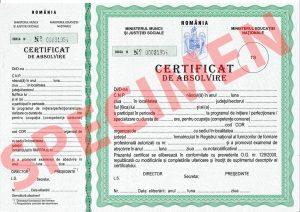 specimen diploma
