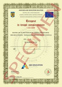 diploma terapeut in terapii complementare