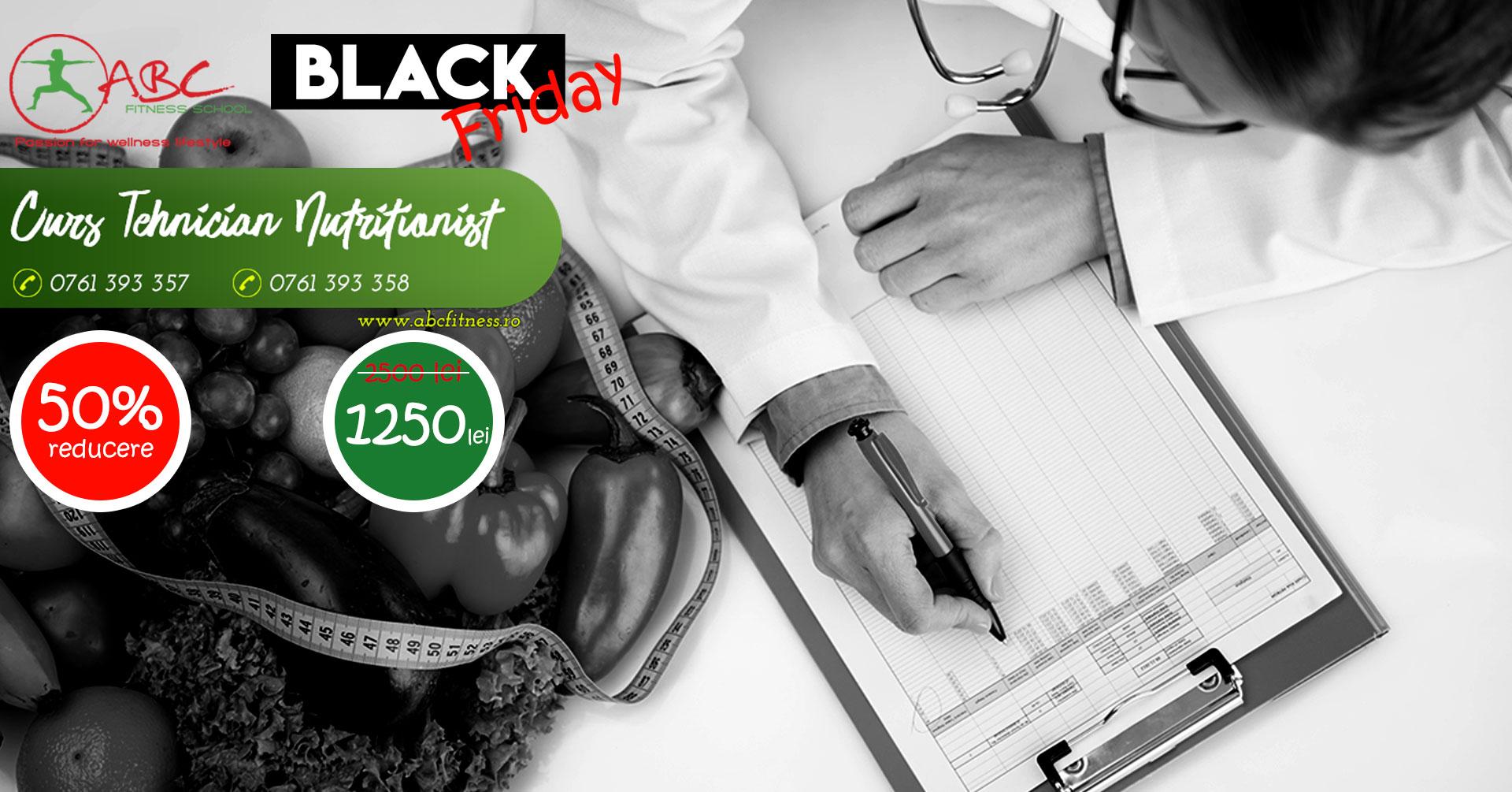 curs tehnician nutriționist - reducere black friday