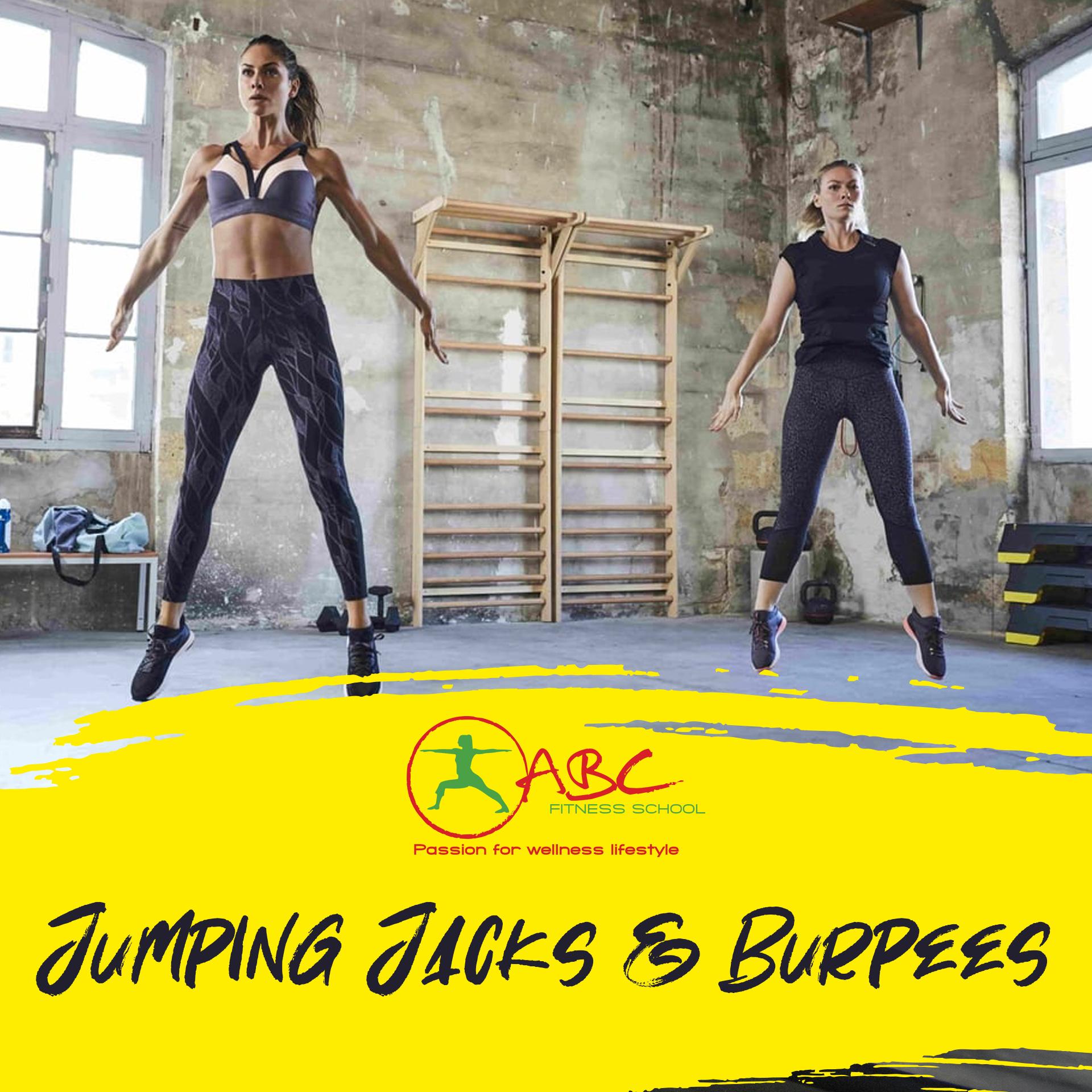 jumping jacks si burpees